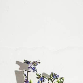 Chaussures compensées à motifs floraux