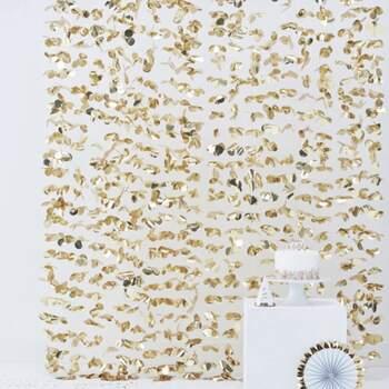 Rideau À Fleurs Doré - Achetez sur The Wedding Shop !
