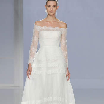 Rosa Clará. Credits- Barcelona Bridal Fashion Week