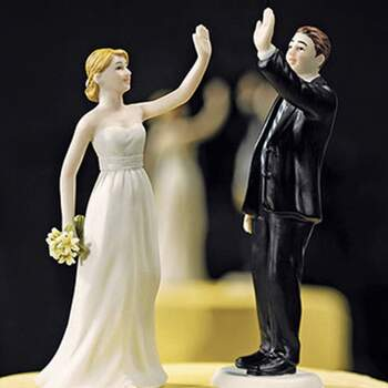 Cake Topper High Five - The Wedding Shop !