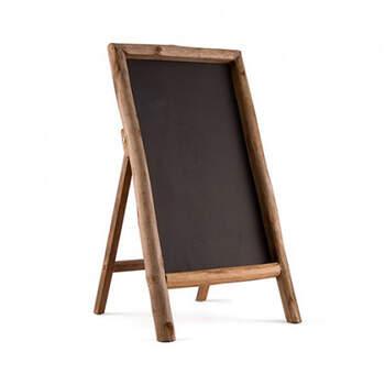 Pizarra con cuadro de madera- Compra en The Wedding Shop
