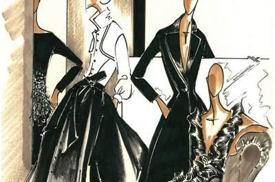 Vestidos de fiesta en color negro de Carolina Herrera