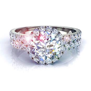 Photo : Diamants et Carats - Modèle : Bague Portofino en or blanc
