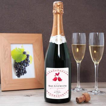 Champagne personnalisé - Crédit photo: cadeaux.com