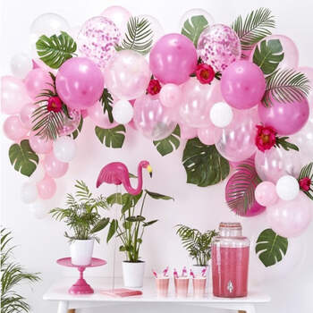 Arco de globos rosa 70 unidades- Compra en The Wedding Shop