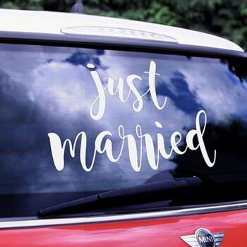 Sticker Pour Voiture Just Married - The Wedding Shop !