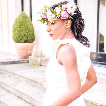 Coiffure : Cut and Learn / Fleurs : Aude Rose / Maquillage : Bbeautiful Relooking