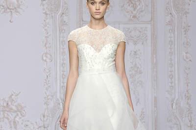 Brautkleider 2015: Mit Illusions-Ausschnitt perfektionieren Sie Ihren raffinierten Brautlook!