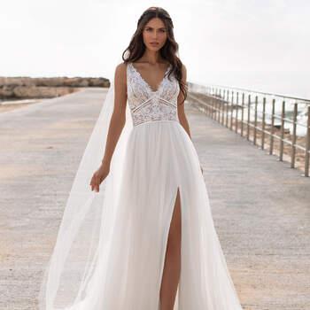 Créditos: Pronovias Cruise 2021 | Modelo do vestido: Charisse