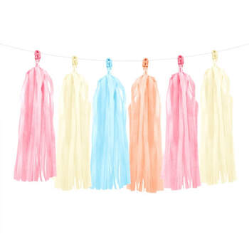 Guirnalda borlas pastel- Compra en The Wedding Shop