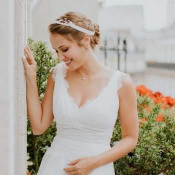 Robe de mariée la Parisienne modèle Clémentine - Crédit photo: Elsa Gary