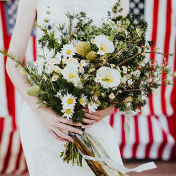 Bouquet de mariée fleurs blanches  Alexandra Wallace