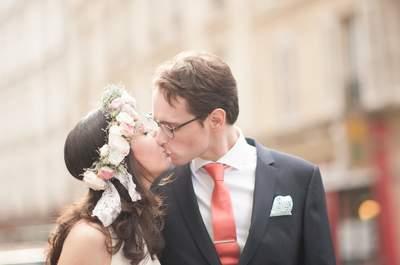 Sarah et Christophe : un joli mariage civil parisien sur le thème de la pharmacie