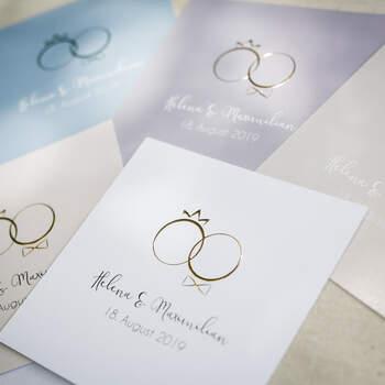 "Einladung Design ""Rings of Love"""