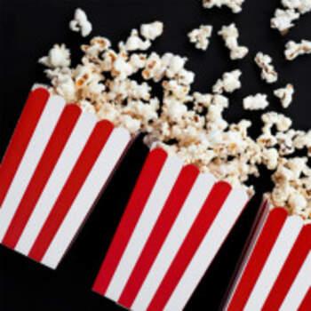 Boîte Popcorn Blancs E Rouge 6 Pièces - The Wedding Shop !