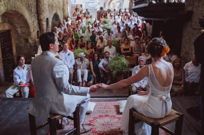 Сказочная свадебная церемония в старом мексиканском замке