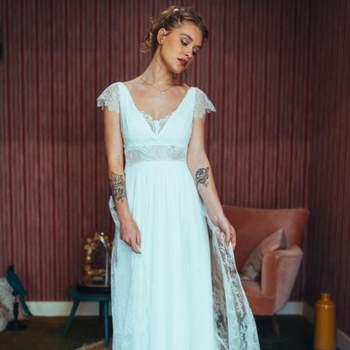 Robe de mariée bohème modèle Raiponce - Crédit photo: Elsa Gary