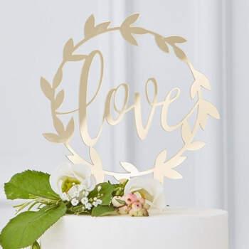 "Topper tarta nupcial ""Love""- Compra en The Wedding Shop"