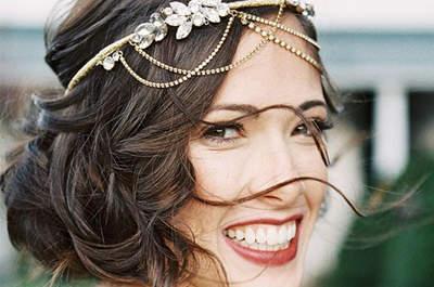 Adorna tu peinado de novia con joyas, ¡triunfarás!