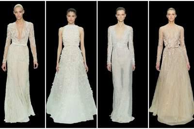 Idee per la sposa elegante e sofisticata. Ecco le proposte di un grande stilista come Elie Saab. Haute Couture Resort 2013. Foto www.eliesaab.com