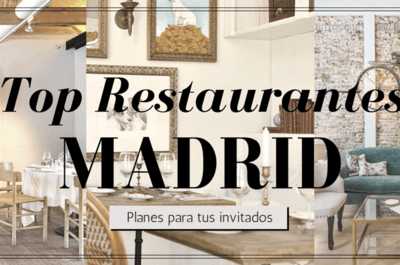 ¿Te casas en Madrid este 2016? ¡Recomienda a tus invitados los 10 restaurantes de moda de la capital!