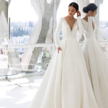Créditos: Pronovias Cruise 2021 | Modelo do vestido: Hepburn