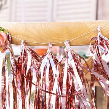 Guirnalda de borla de oro rosa- Compra en The Wedding Shop