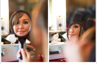 Das Augen-Make-up für die Braut mit
