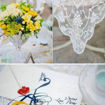 Tons suaves e estivais: azul e amarelo. Inspire-se e colore o seu casamento com bom-gosto.