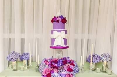 Así de linda lucirá tu boda con una decoración en color Radiant Orchid