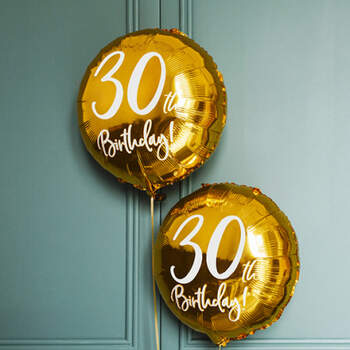 Globo 30 años oro - Compra en The Wedding Shop