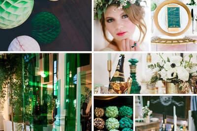 Una boda a la absinthe: La combinación de turquesa y dorado cobran vida en un día especial