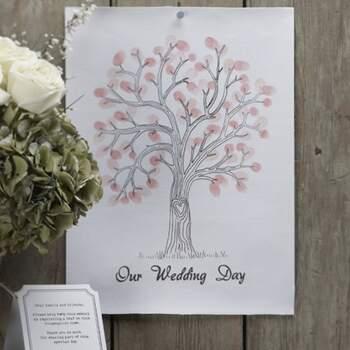 Livre D'or Empreinte D'amour Rose - The Wedding Shop !