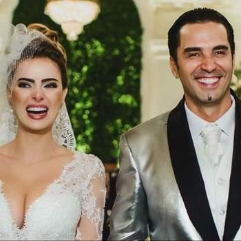 O casamento de Latino e Rayanne Morais, que aconteceu, no dia 12 de março foi o mais fechado dos últimos anos, pois até os convidados foram proibidos de entrar com os celulares.   Credits: Rede Record