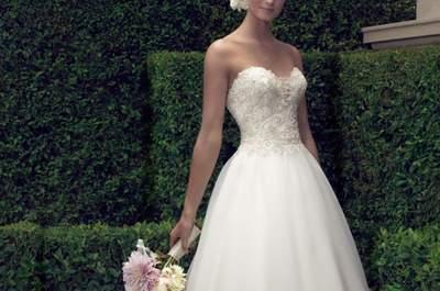 Vestidos de novia con pedrería 2017: ¡déjate enamorar por estos maravillosos detalles!