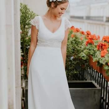 Robe de mariée la Parisienne modèle Dorothée - Crédit photo: Elsa Gary