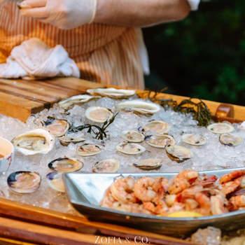 Corner de frutos do mar. Credits: Zofia & Co.