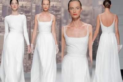 Abiti da sposa minimal 2015: una selezione per la sposa di classe