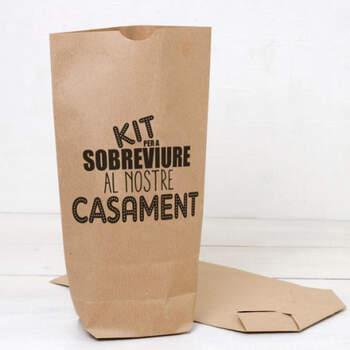 """Sobre """"Kit de Supervivencia a Nuestra Boda""""- Compra en The Wedding Shop"""