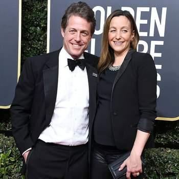 Aos 57 anos, Hugh Grant foi pai pela quinta vez em março. O bebé é fruto do seu casamento com Anna Eberstein, | Foto via IG @guiltynewsfr