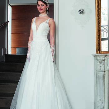 Photo : Les Mariées de Talia - Bella Créations, robe Suzanna
