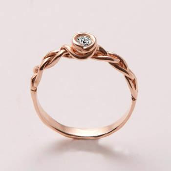 mejor servicio ee9cc a91a3 Preciosos anillos de compromiso en color rose gold: Un color ...