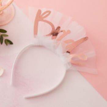 Bandeau Avec Voile Bride - The Wedding Shop !