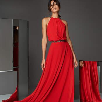 Vestido cerimónia comprido da Coleção Pronovias 2020 | Modelo: Atos Style 06