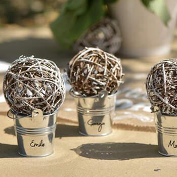 Marcasitio Cubo Metal 2 Unidades- Compra en The Wedding Shop