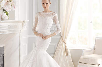 Vestidos de novia escote ilusión 2015: luce un look refinado en tu boda