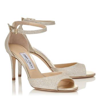 Chaussures de mariée nude ANNIE 85, Jimmy Choo