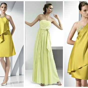 Robe or ou jaune de Pronovias.