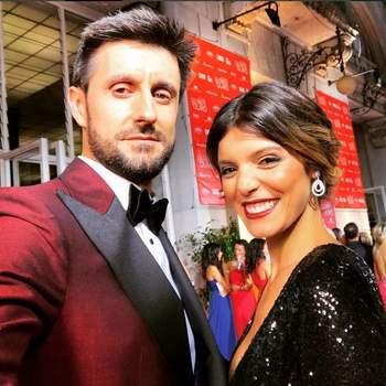 Foto via Instagram Daniel Oliveira | O casal de moda estava vestido por: ele: Paulo Battista Alfaiate e ela: Pronovias