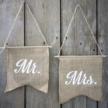 Bannières Mr Et Mrs - Achetez sur The Wedding Shop !